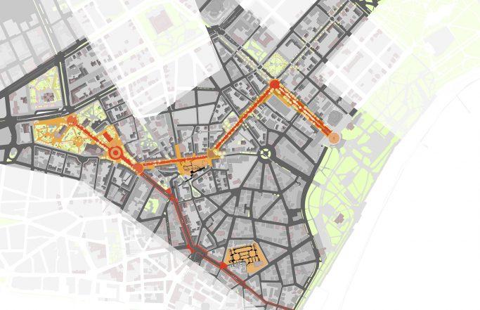 Городская ткань: кольца и дорожки
